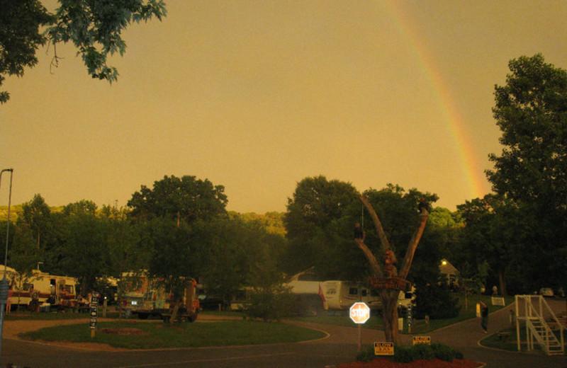 Rainbow over Smokey Hollow Campground