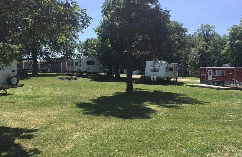 RV camp at River Bend's Resort & Walleye Inn.