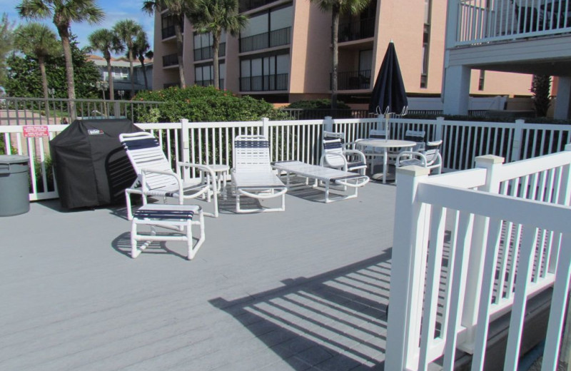 Rental patio at Long Key Vacation Rentals.