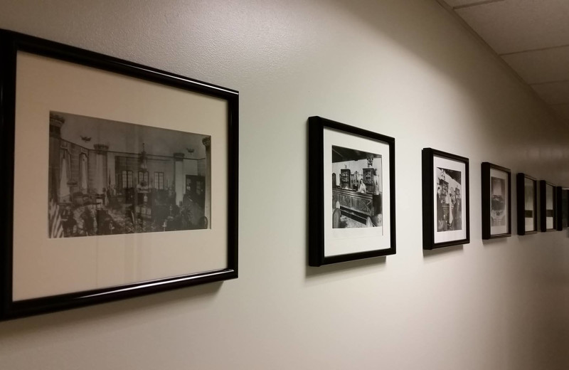 Historic photos at Grand Eastonian Hotel.