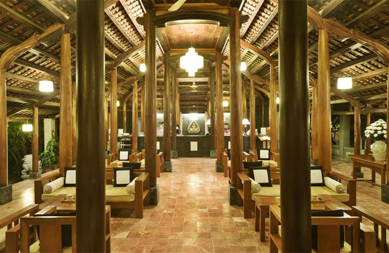 Lounge at Pilgrimage Village, Hue Boutique Resort & Spa.