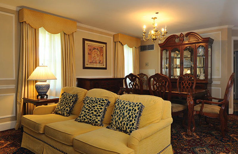 Guest suite at The Spa at Norwich Inn.