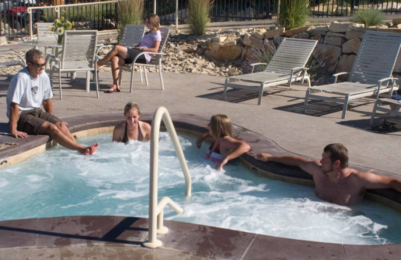 Outdoor hot tub at Zion Ponderosa Ranch.