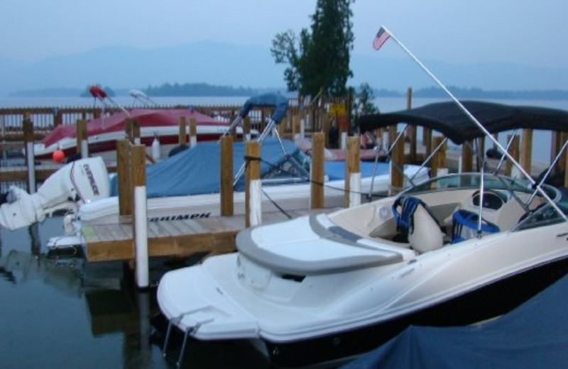 Boats at Diamond Cove Cottages.