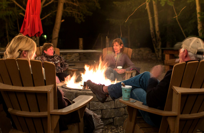 Bonfire at Wind River Ranch.
