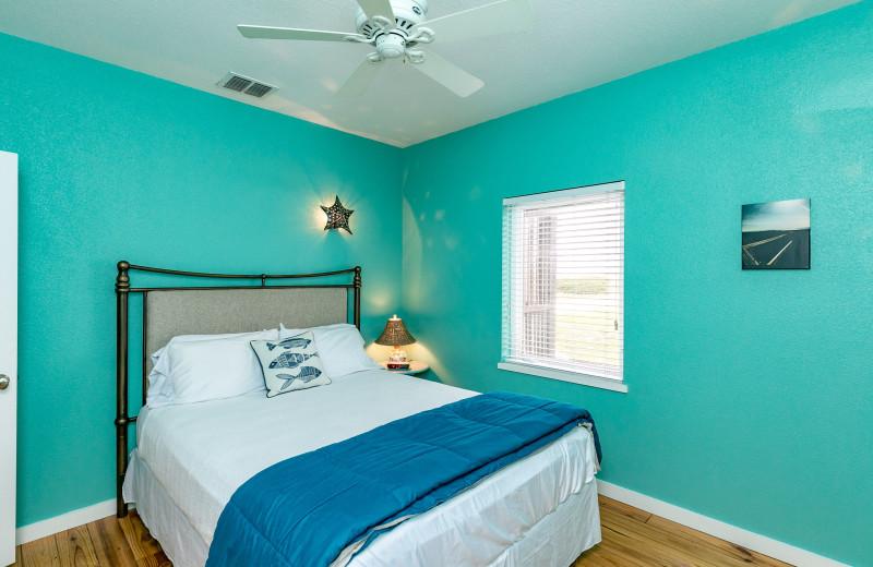Rental bedroom at Silver Sands Realty.