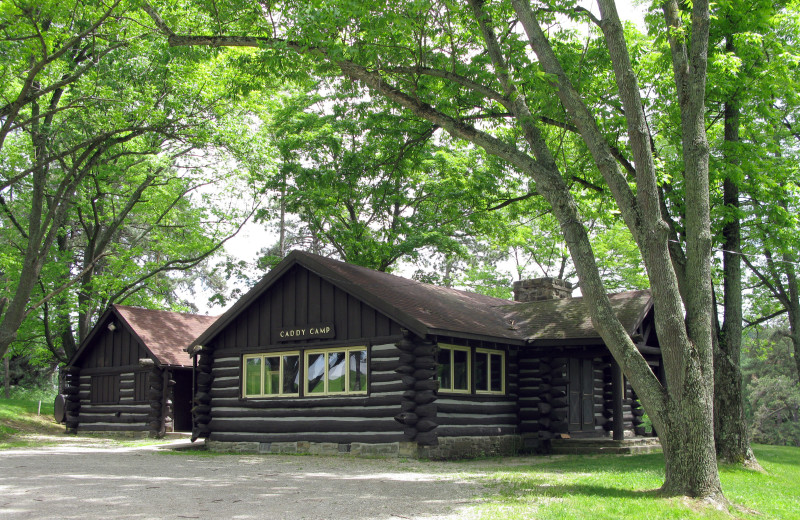 Cabin exterior at Oglebay Resort and Conference Center.