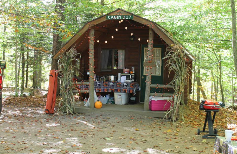 Autumn kickoff weekend festivities at Old Forge Camping Resort.