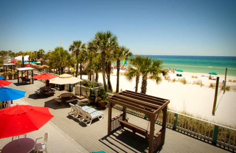 Patio view at Sandpiper Beacon Beach Resort.