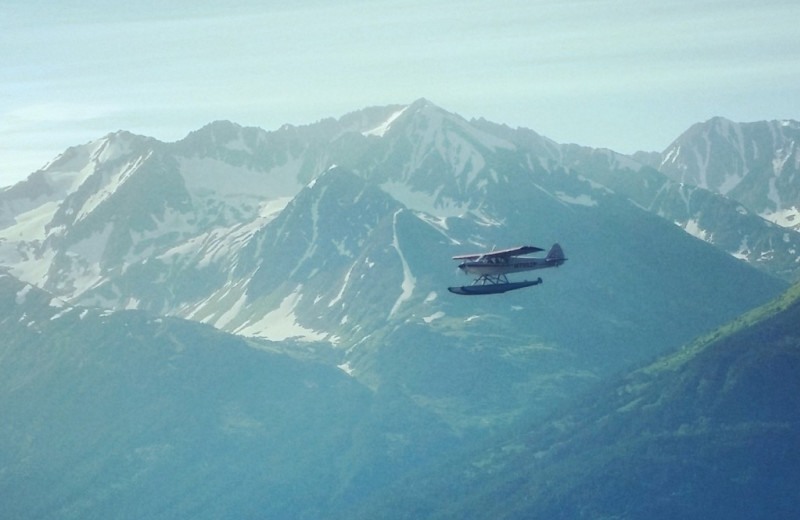 Plane ride at Kenai River Drifter's Lodge.