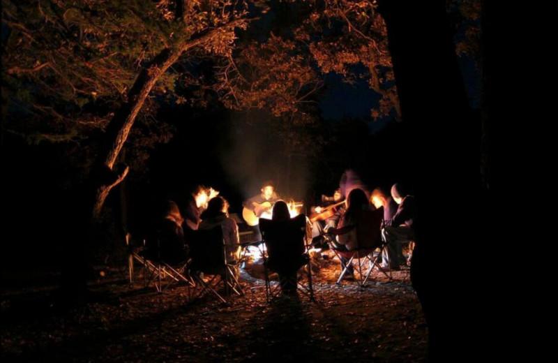 Campfire at Great Blue Resorts- Shamrock Bay Resort.