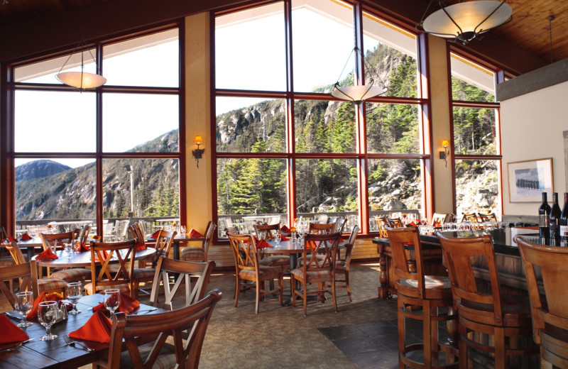 Dining at Stowe Mountain Lodge.
