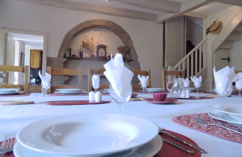 Dining at La Tarais.