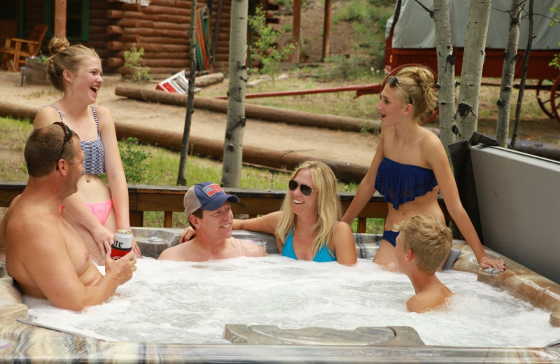 Hot tub at Elk Mountain Ranch.