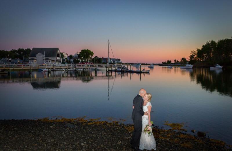 Wedding couple at The Nonantum Resort.