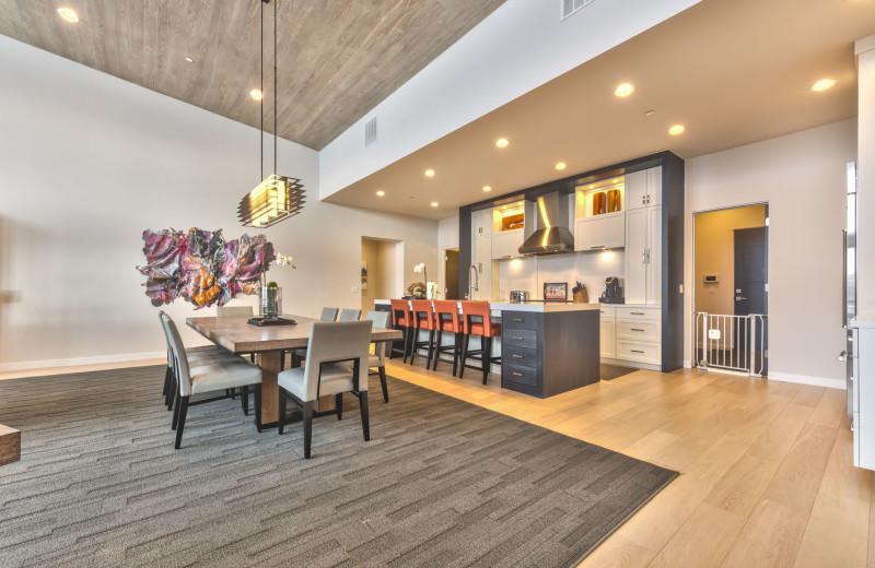 Rental kitchen at Park City Rental Properties.