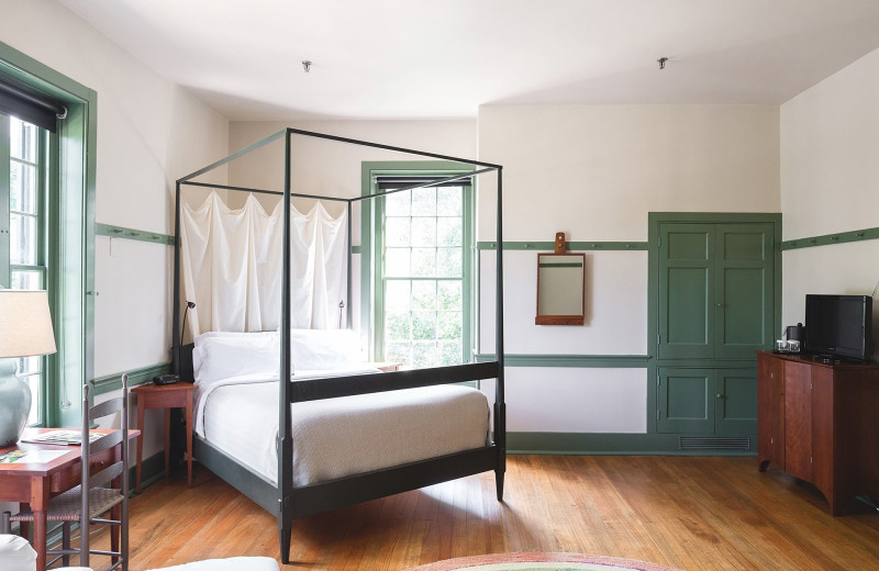 Guest room at Shaker Village at Pleasant Hill.