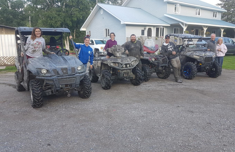 ATV a tElk Lake Wilderness Resort.