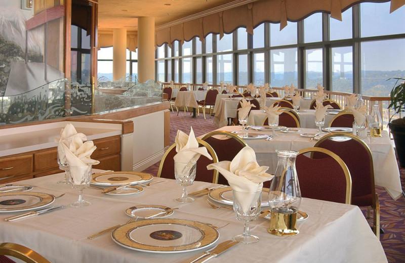 Dining at Millennium Hotel Cincinnati.