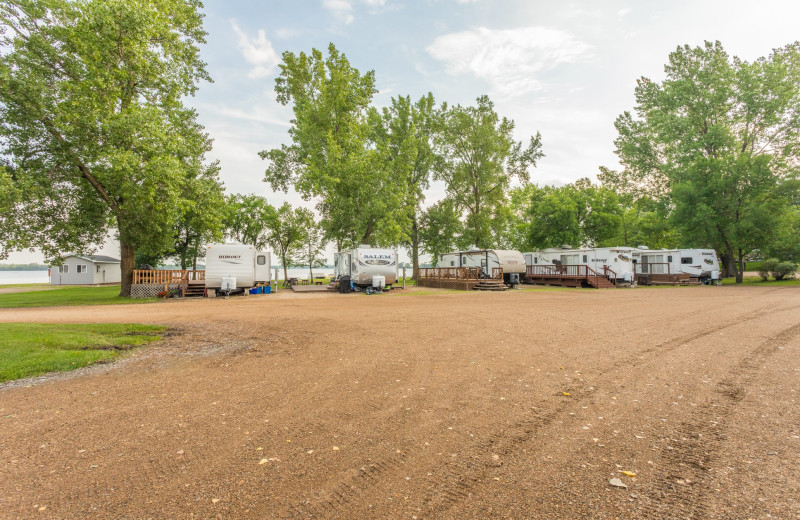 RV camping at Barrett Lake Resort.
