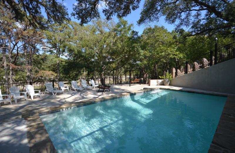 Rental pool at Frio Family Getaway.
