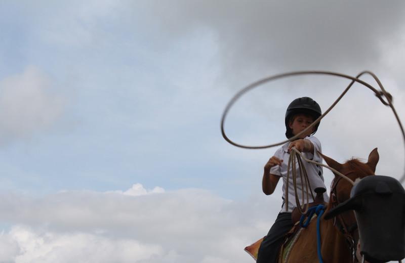 Horseback riding at Camp Champions on Lake LBJ.