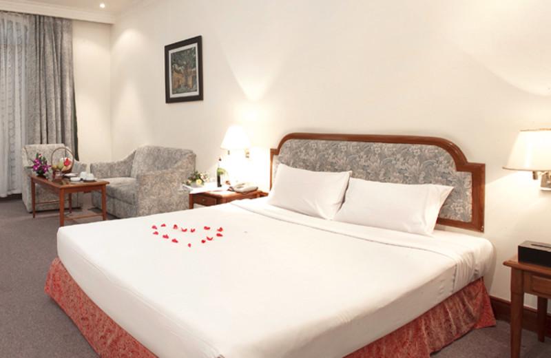 Guest room at Asean International Hotel.