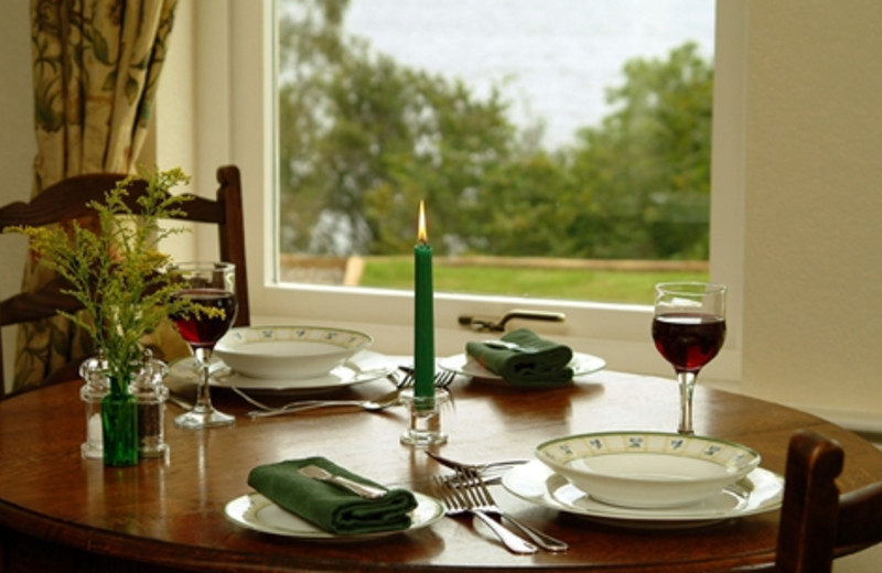 Cottage dining room at Loch Ness Cottages.