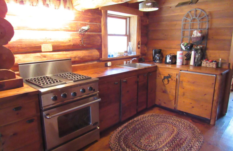 Cabin kitchen at Drummond Island Resort and Conference Center.