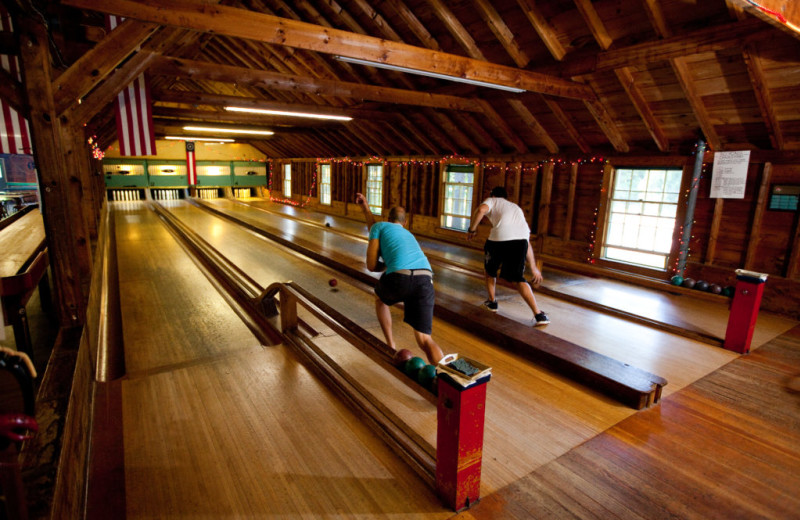 Bowling alley at Sebasco Harbor Resort.