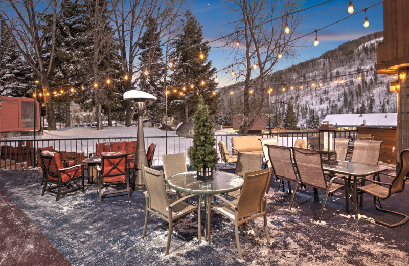 Patio at Vail Run Resort.