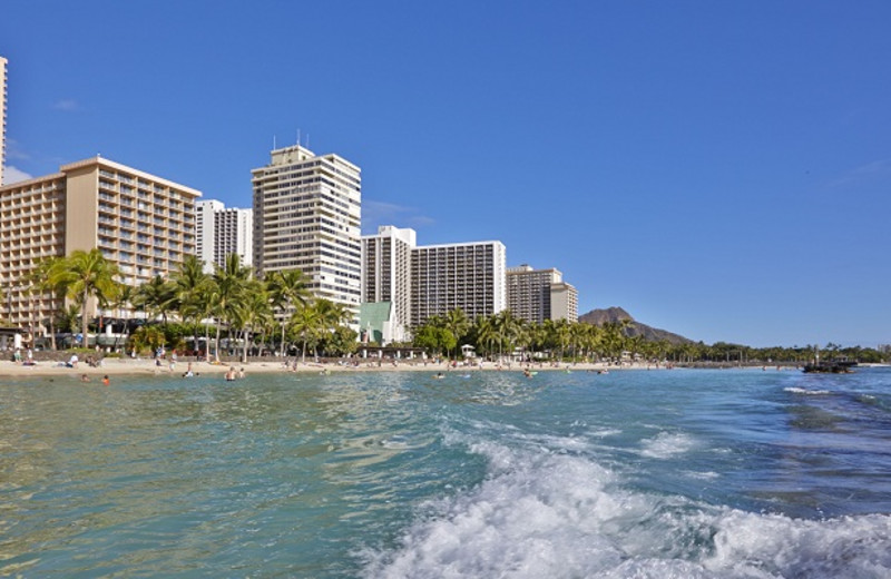 Exterior View of Pacific Beach Hotel Waikiki