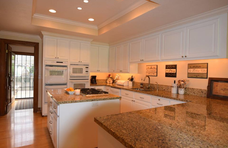 Rental kitchen at Woodfield Properties.