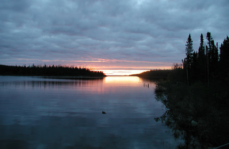 Sunset at Arctic Lodges.