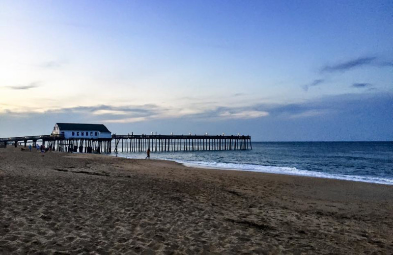Fishing pier at Beach Realty & Construction.