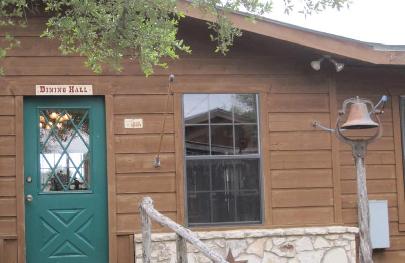 Dining hall at Rancho Cortez.