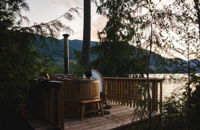 Hot tub at Wilderness Resort & Retreat.