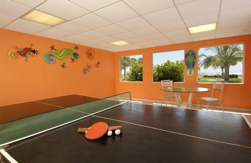 Ping pong table at Sunsational Beach Rentals. LLC.