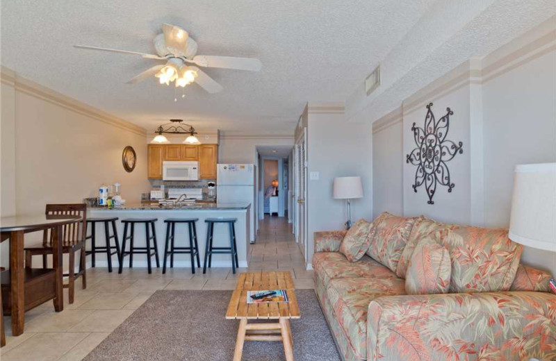 Rental interior at Gulf Shores Rentals.