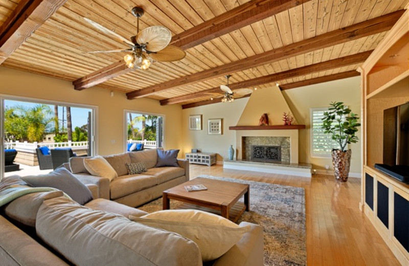 Rental living room at Seabreeze Vacation Rentals, LLC-Orange County.