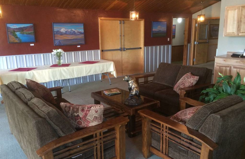Lobby view at Ninepipes Lodge.