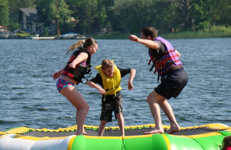 Water activities at Campfire Bay Resort.