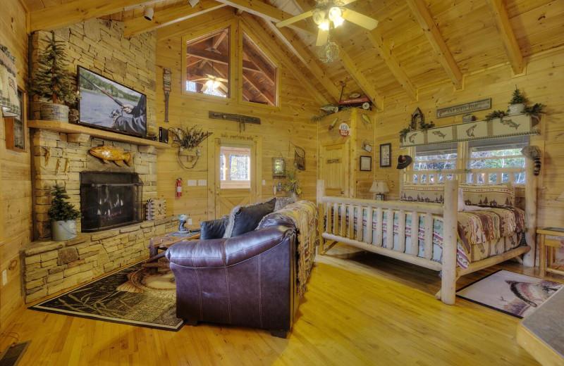 Rental interior at Aunt Bug's Cabin Rentals, LLC.