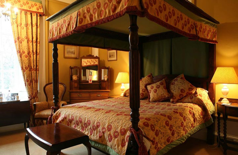 Guest room at Headlam Hall.