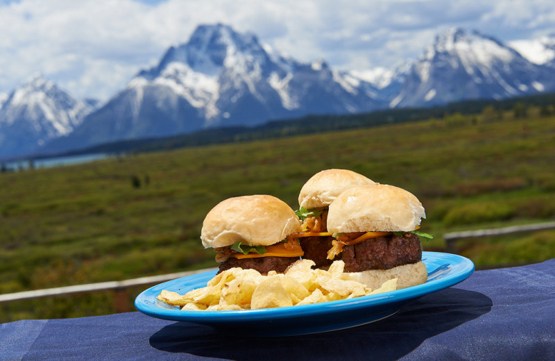 Delicious meals with a view at Jackson Lake Lodge.