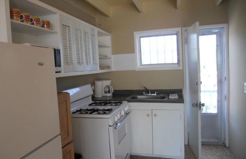 Rental kitchen at Paradise Cove Resort.