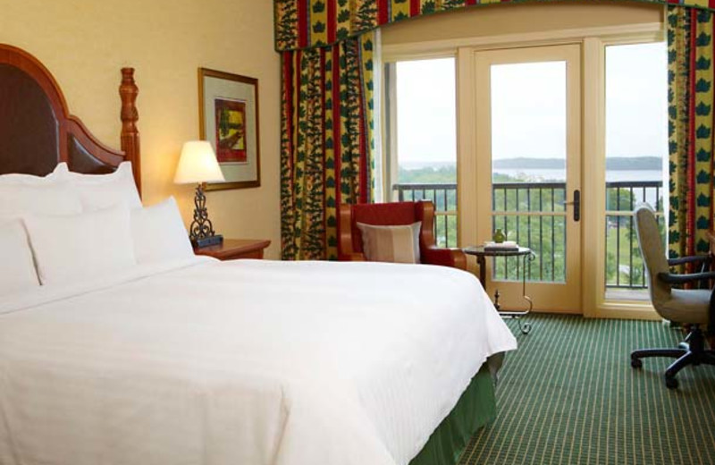 Guest room at Marriott Shoals Hotel & Spa.