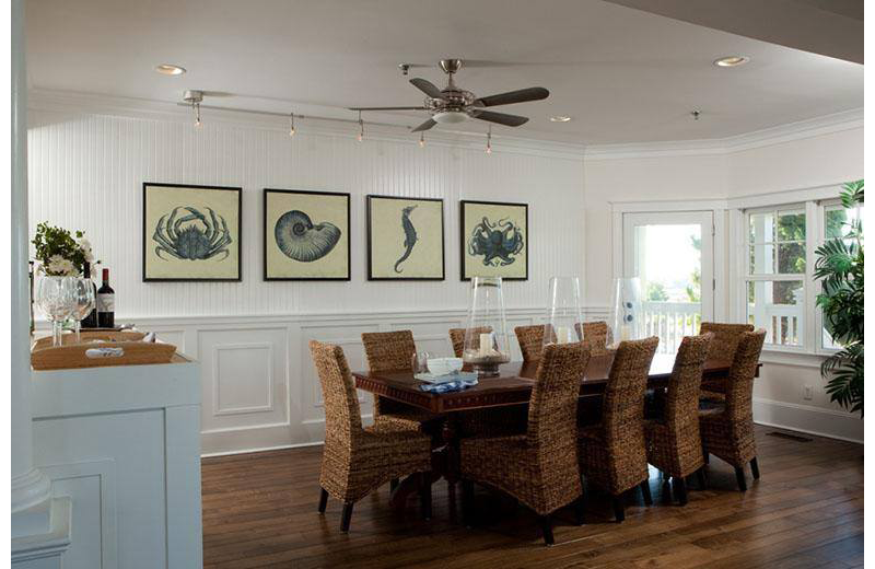 Dining room at The Inn at Bald Head Island.
