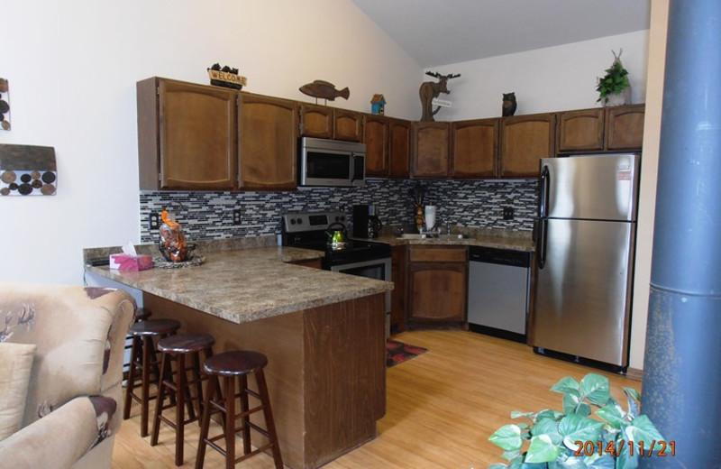 Rental kitchen at Resort Properties of Angel Fire.