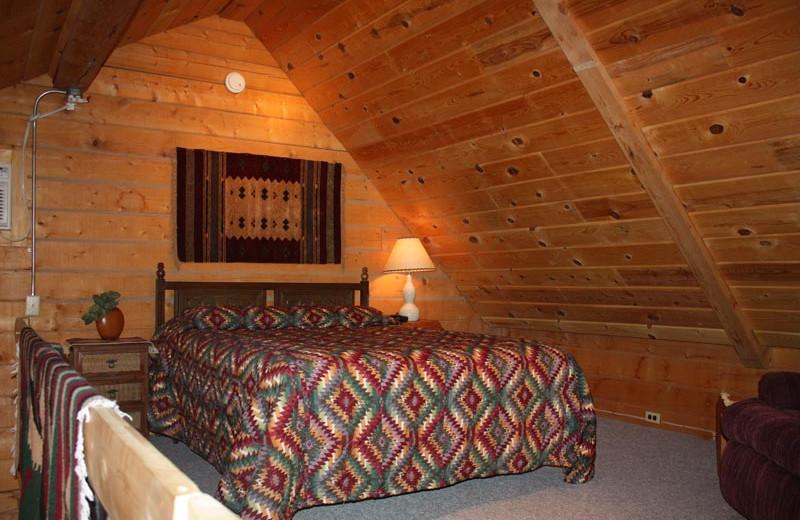 Cabin bedroom at Morris' Last Resort.